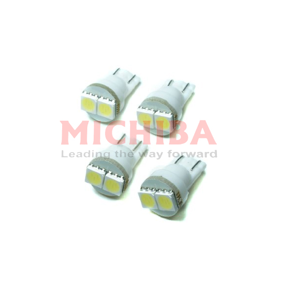 T10 WEDGE 2Q SMD LEDS D24V WHITE