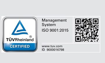 ISO 9001 : 2015 CERTIFIED!